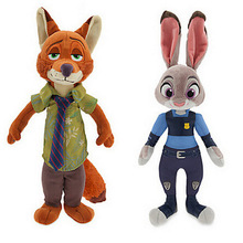 2016 Movie Zootopia Zootropolis Stuffed Plush Toy 20CM Zootopia Fox Nick Wilde Bunny Judy Hopps Plush Doll(China (Mainland))