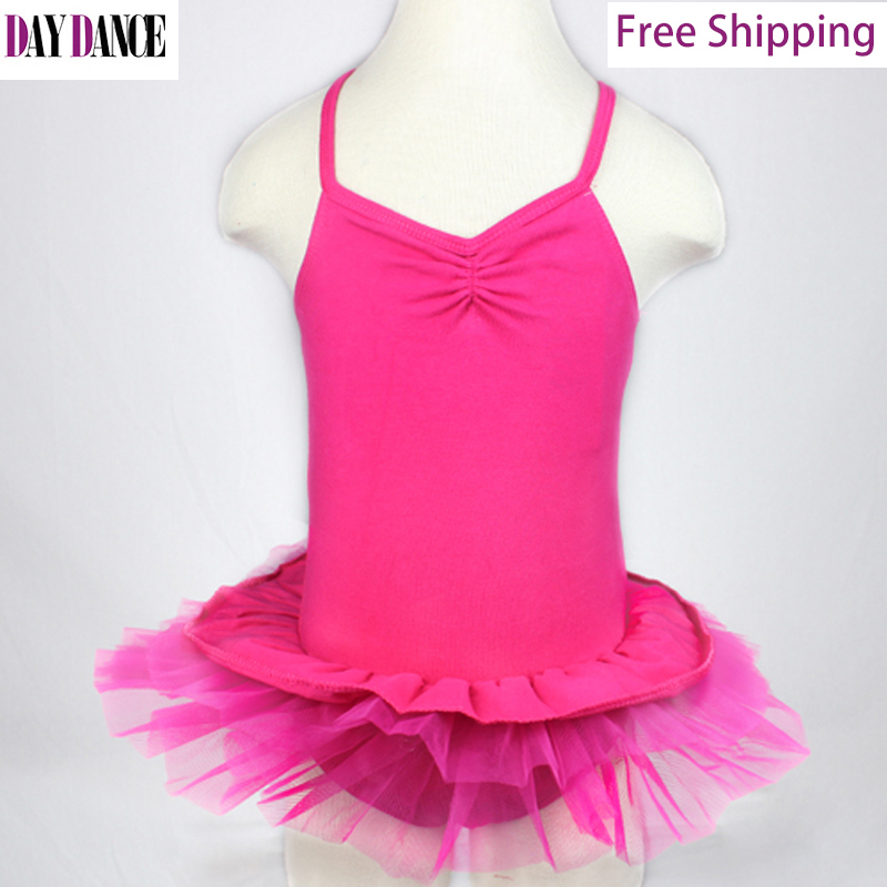 Child Kid Cotton Sexy Sleeveless Leotard Cross Back Ballet Tutu Skirt Girls Gymnastics Ballet Dance Dress(China (Mainland))