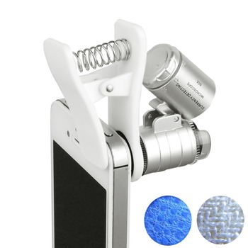 Omnipotent Ip5 Mini Digital Microscope 60X LED for iphone 5 IP6 Mobile Microscope Cell phone Etc Stand Loupe Mobile Magnifier
