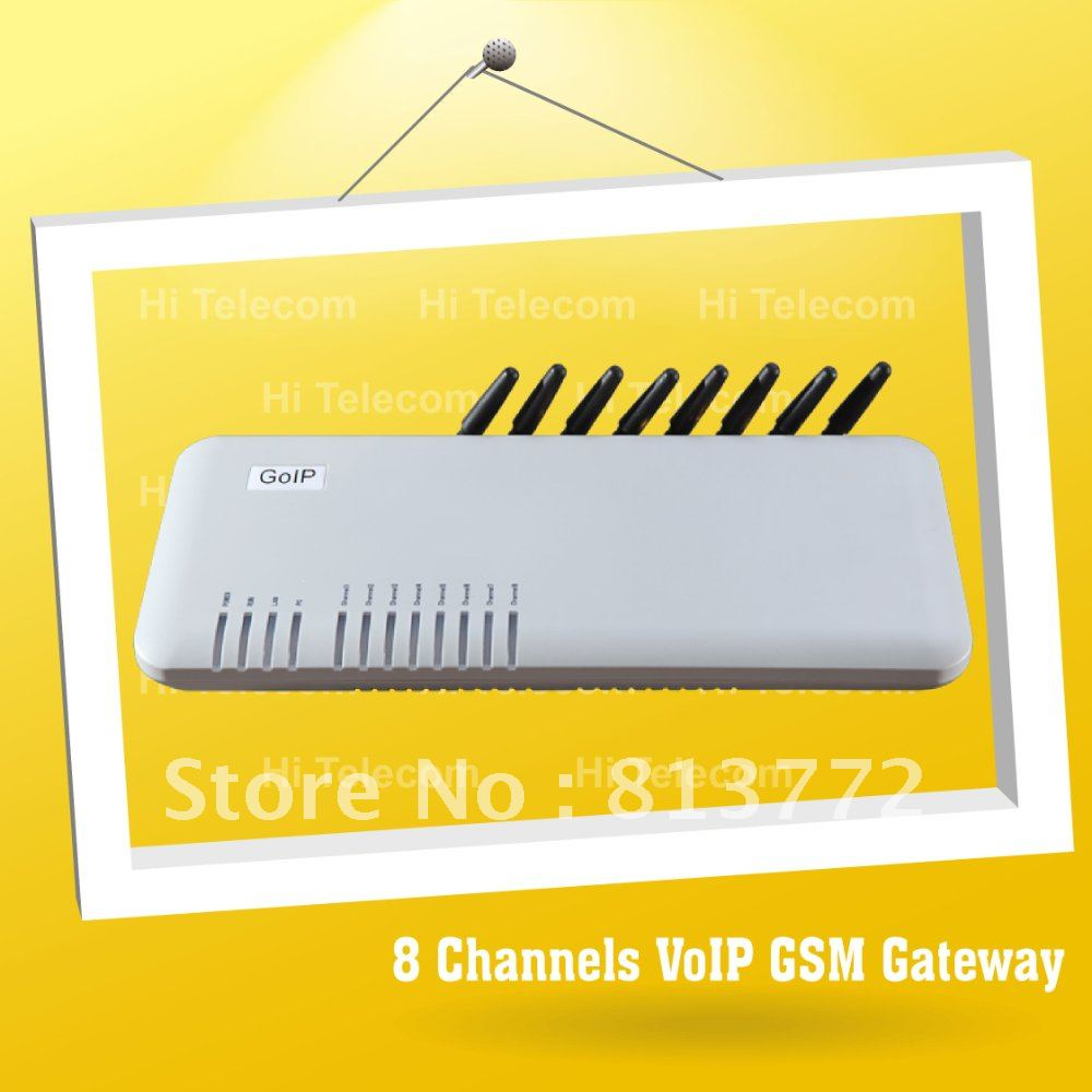 Free Shipping, 8 SIMs GSM VoIP Gateway, Asterisk Compatible, Best Solution for Call Termination, Free Technical Support(China (Mainland))