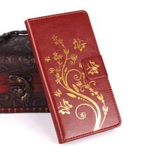 Buy Flower PU Leather Case LG K10 / LTE K410 K420N K430DS K430 / M2 F670 Wallet Leather Cover Flip Phone Cases Card Holder for $4.24 in AliExpress store