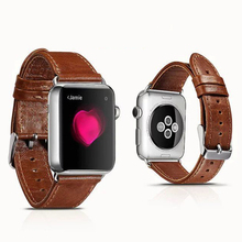 100% Genuine Leather watch band Vintage Leather Loop For 42MM/38MM Apple Watch Band for iWatch Sports Buckle Bracelet Watchbands(China (Mainland))