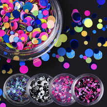 Buy 1 Box Shiny Colorful Nail Sequins Tips Round Shape Nail Glitter Tips 35 Colors Manicure Nail Art Decoration Accessories for $1.24 in AliExpress store