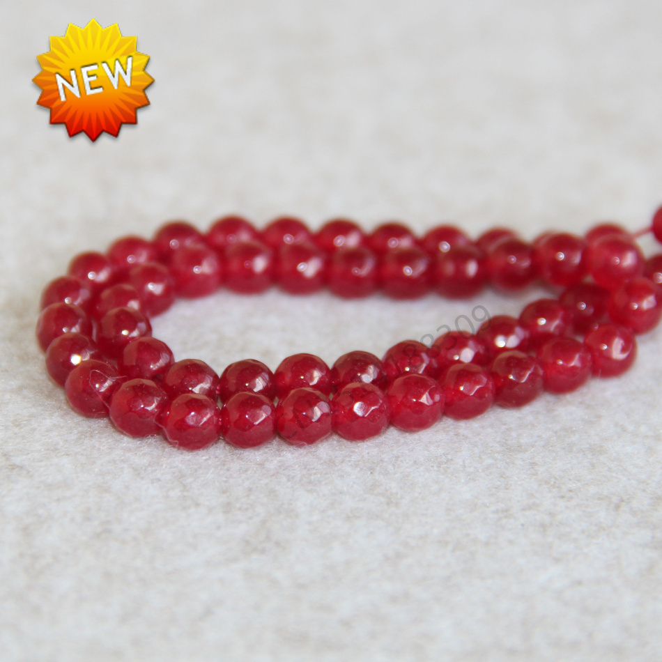 (Min Order1)6mm Natural Fashion New Red Ruby beads Jasper beads Round shape stones faceted Beads Jewelry making design wholesale(China (Mainland))