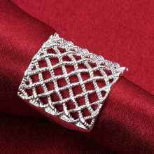 Free Shipping 925 Silver Ring Fine new arrivals Fashion anillos Fishnet Jewelry Ring Women Men Finger