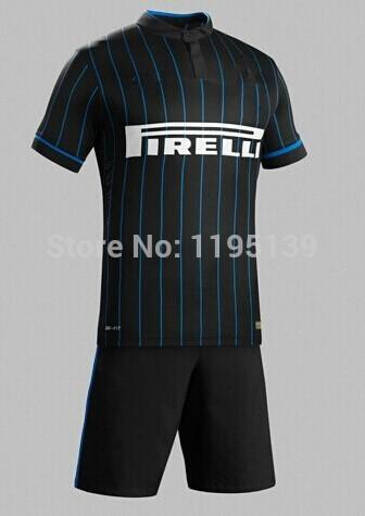 High quality Kits 2014 15 International Soccer jerseys kits KOVACIC VIDIC Home football shirt GUARIN Soccer uniforms set+logos(China (Mainland))