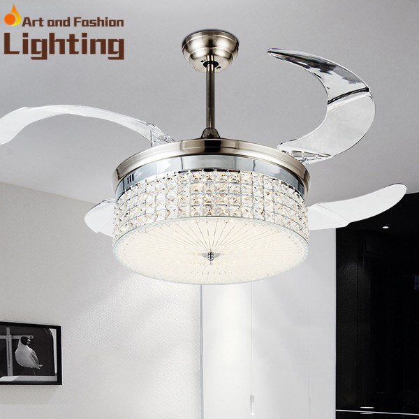 invisible fan blades crystal ceiling fan light dimmer 4. Black Bedroom Furniture Sets. Home Design Ideas