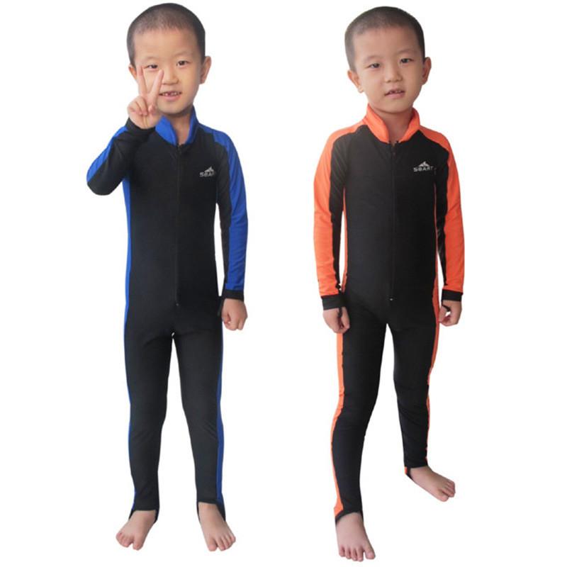 SBART Children UPF50+ Quick-Dry Diving Suit Swimsuit Clothing Snorkeling Swimming Surfing Rash Guard One Pieces Wetsuit Swimwear(China (Mainland))