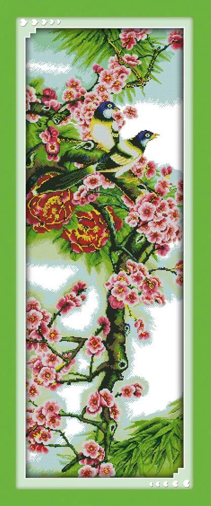 Needlework,DIY DMC The plum blossom Cross stitch, Chinese Style Pattern Innovation Items Home Decro Hand Made Embroidery kits(China (Mainland))