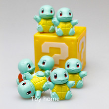 pokeball Anime Cartoon Pokemon Squirtle Pikachu PVC Action Figure Collection Model Toys Dolls Classic Toys 5pcs/set