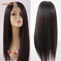 Wholesale Price Soft U Part Wig Yaki Straight Human Hair Peruvian Virgin Human Hair Upart Wig
