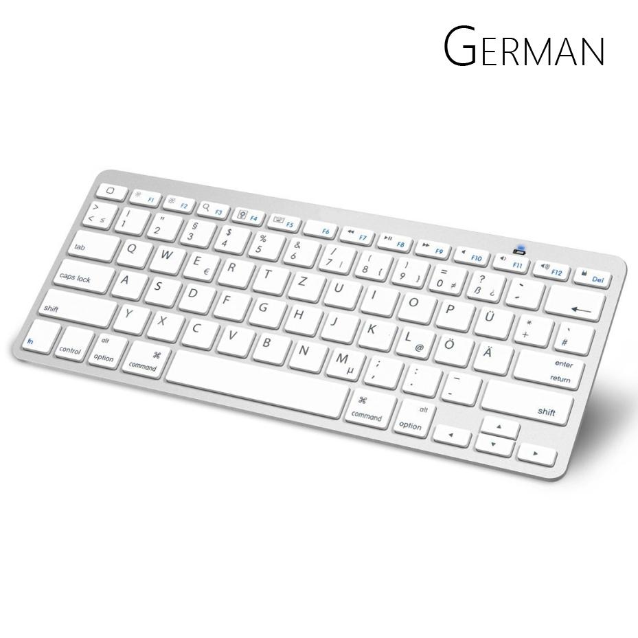 German Bluetooth Keyboard with QWERTZ Layout Wireless Keyboard for Apple iPad iPhone Samsung Ordinateur Portable(China (Mainland))