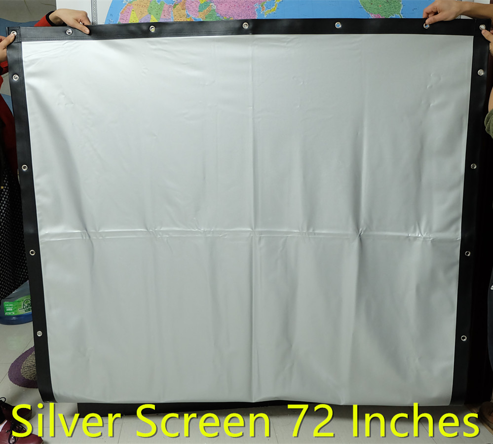 72 Inches 16:9 4:3 Silver screen Fast Fold Portable Projection Screen for 3D, Cortinas Pelicula Film 3d hologram pantalla(China (Mainland))