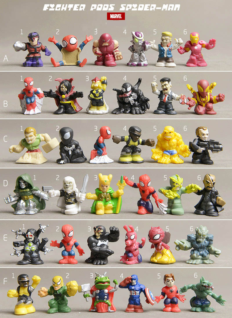 wholesale marvel genuine bulks superheros 20pc avengers ultimate spiderman monster 2cm kids toys for children christmas gift(China (Mainland))