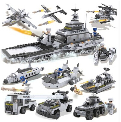 COGO Military Series 13007 Helicopter Fighter Battleship 8 pcs/ a lot 25 models Building Block Sets Educational DIY Bricks Toys(China (Mainland))