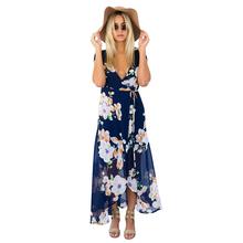 Buy FANALA Summer Sexy Dress Women Chiffon Split V Neck Short Sleeve Floor-Length Party Dresses Elegent Beach Maxi Dress Vestidos for $7.81 in AliExpress store