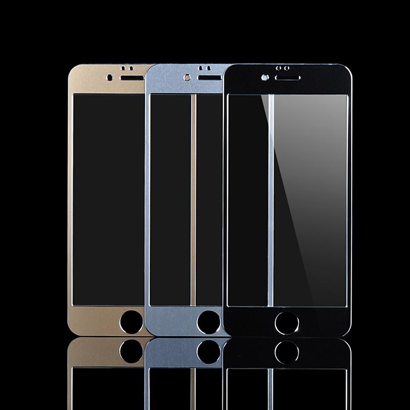 iPhone 6 Plus Aluminum Metal Full Frame Tempered Glass Apple iphone 5.5 inchScreen Protector Pelicula de Vidro - Best Accessory store