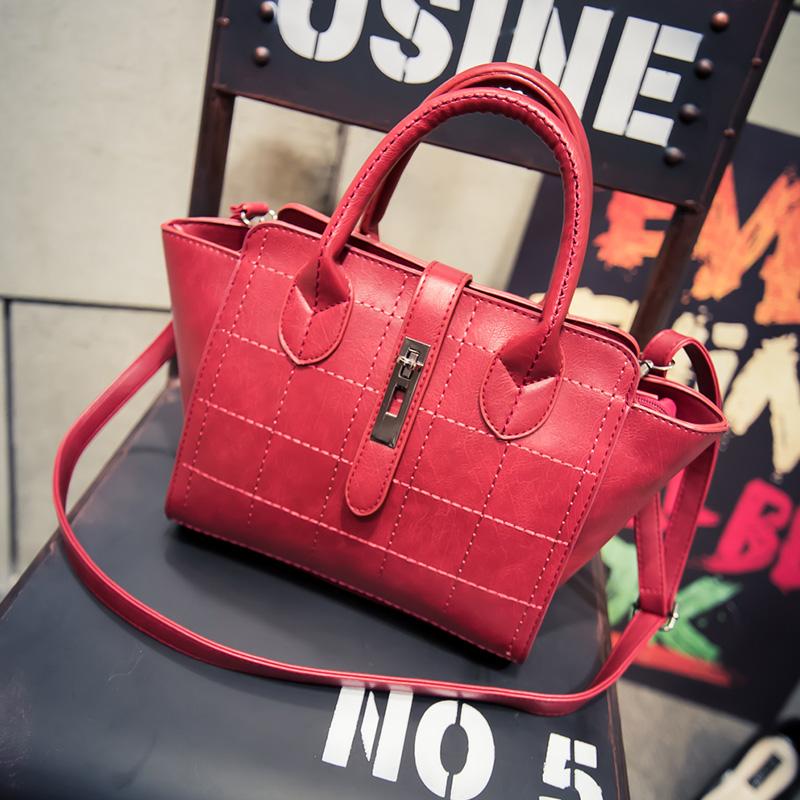 fashion patent PU leather handbags Socialite crocodile grain women messenger bags fashion women shoulder bags customized support