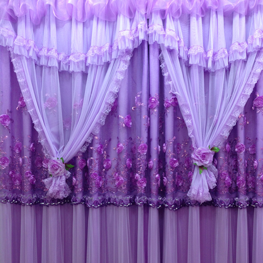 Purple curtains for bedroom for Cortinas para sala pequena