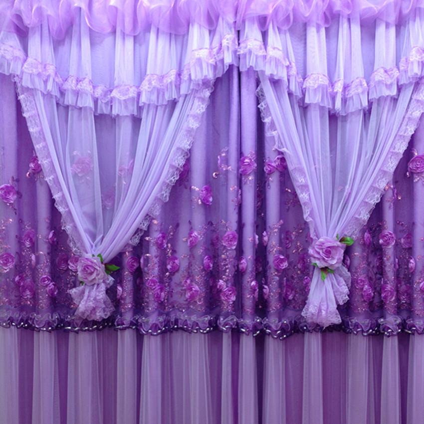 Bordado romántico cortinas de diseño dormitorio sala de estar Lace ...