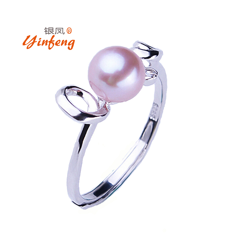Hot Selling 925 sterling silver ring for women 100% genuine freshwater pearl jewelry top quality with lowest price simple(China (Mainland))