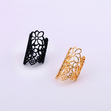 Min order $10 Fashion hollow out cutout lace flower Women finger ring