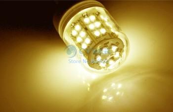 Free Shipping 10pcs/Lot SMD 3528 60 LED 200-240V LED Spot Light G9 Bulb Lamp 480LM Warm White 36