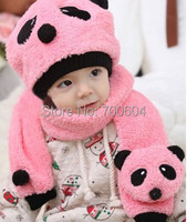 Cute Bear Kids Children Infant Newborn Toddler girl hat Baby Girl Hooded Hats Skullies Beanie Caps chapeu set with Scarf