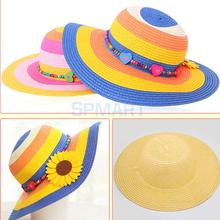 Children DIY Strawhat Unfinished Hat Educational Craft Kids Toys Handmade Handicraft Drawing Painting Art(China (Mainland))