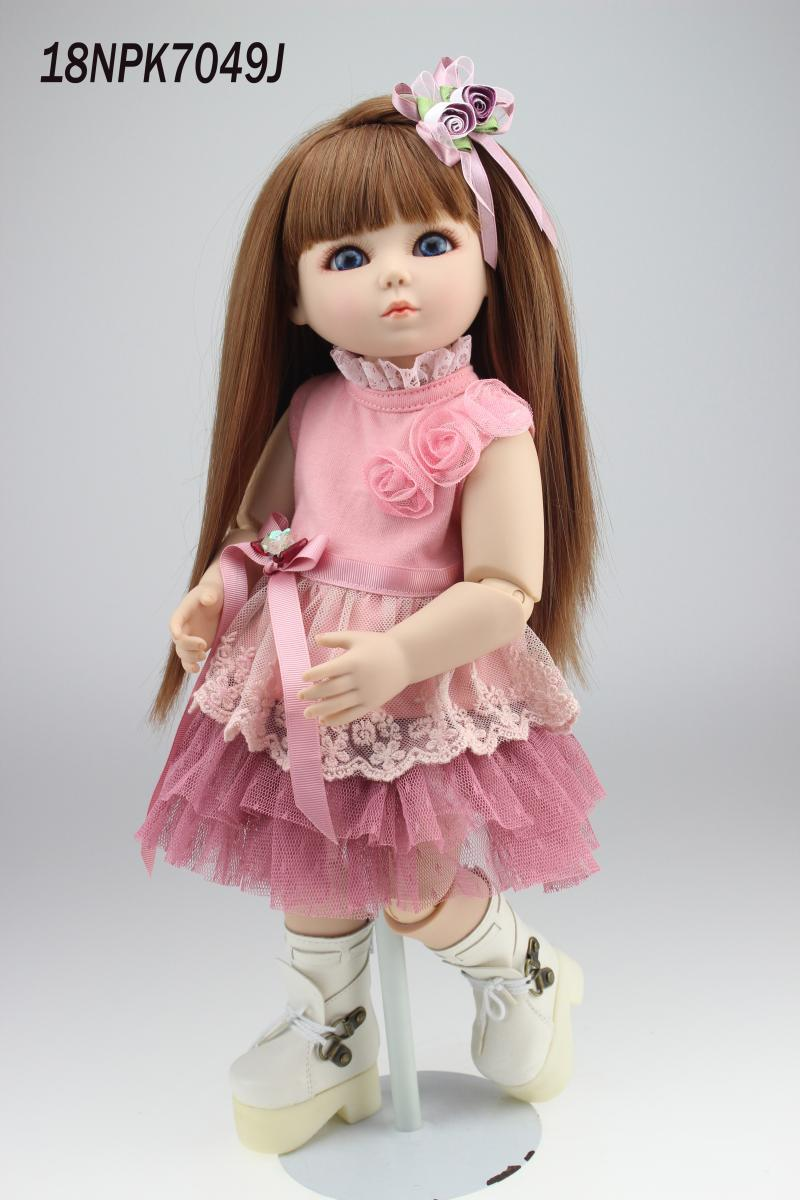 Baby Favorite Toy Full Vinyl 18 Inch Sd/Bjd Dolls Can Be Bathed Baby Alive Dolls My First Toys Dolls Kids Fashion Girl Playmate(China (Mainland))