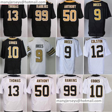 Sale Men's 9 Drew Brees Jersey 10 Brandin Cooks 31 Jairus Byrd 32 Kenny Vaccaro 99 Sheldon Rankins Color Rush White Black(China (Mainland))