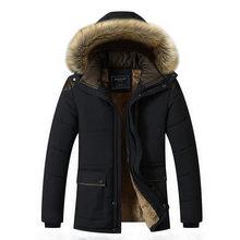 Chaqueta de invierno para hombre ropa de marca de moda Casual Delgado grueso cálido para hombre Abrigos Parkas con capucha abrigos largos ropa masculina M-5XL(China)