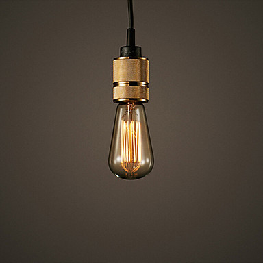 Industrial Hooked Edison Bulb Loft Vintage Pendant Lights Lamp With 1 Light Free Shipping(China (Mainland))