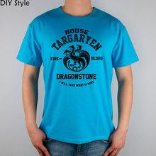 Buy Sx House Targaryen Fire Blood Dragonstone Game Thrones t-shirt Top Lycra Cotton Fashion Brand Men T Shirt High for $10.86 in AliExpress store