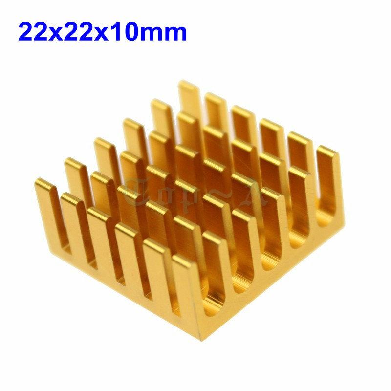 10pcs Aluminium Cooling Cooler VGA IC Chip Ram DDR Chipset Heatsink 22x22x10mm(China (Mainland))
