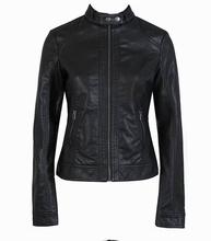 Women Pu Leather Jacket Single Pimkie Washed PU Leather Motorcycle Jacket  PIMKIE Jacket Slim Female  Leather Large Size(China (Mainland))