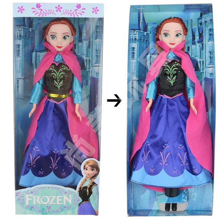 замороженные девочек куклы замороженные Эльза Королева и принцесса Анна кукла замороженные куклы с плюшевыми игрушками коробки 11,5 дюйма