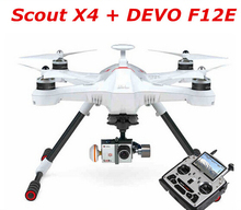 Original Walkera Scout X4 with DEVO F12E GPS FPV RC Quadcopter Drone RTF for Gopro 3 FPV with G-3D Gimbal and iLook+ Camera