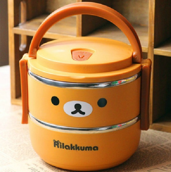 rilakkuma bear lunch box for kids thermos food container japanese bento box l. Black Bedroom Furniture Sets. Home Design Ideas