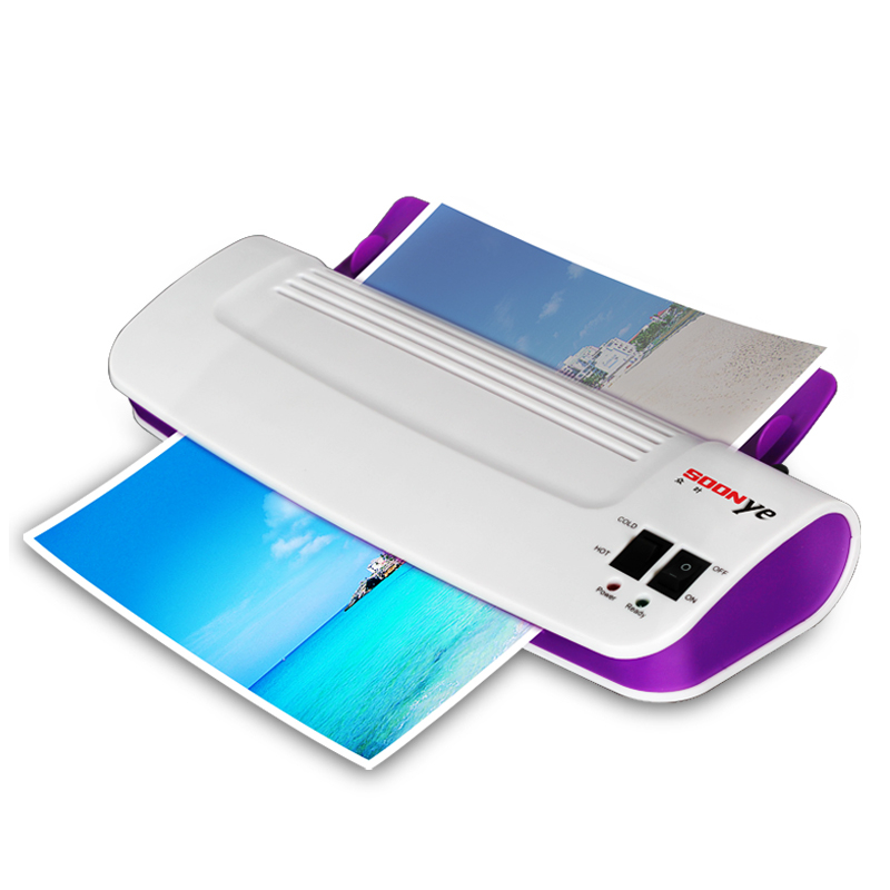 Professional Thermal Office Hot and Cold Laminator Machine for A4 Document Photo Blister Packaging Plastic Film Roll Laminator(China (Mainland))