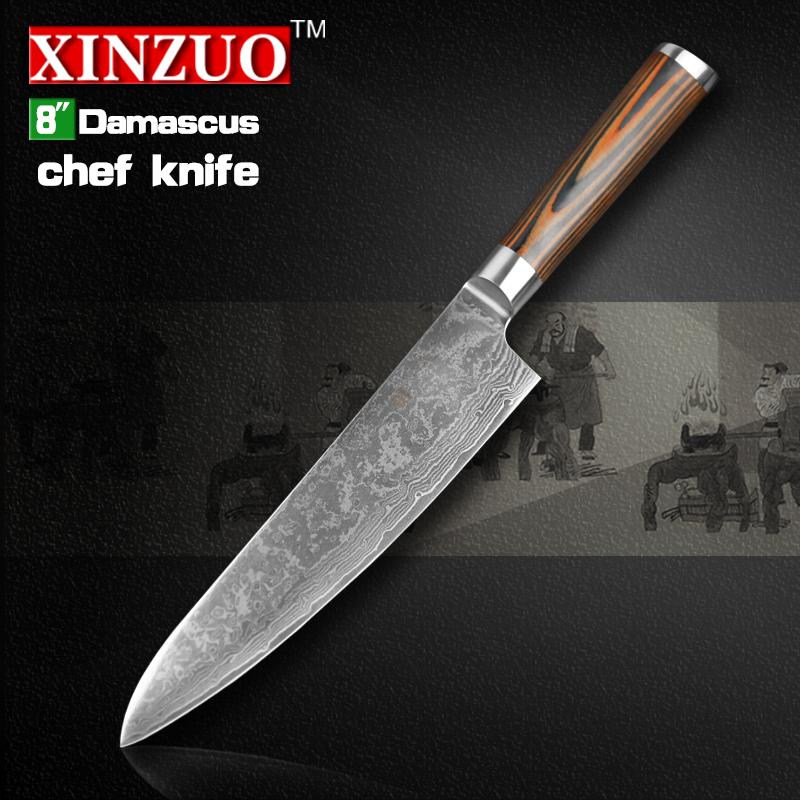 Buy Xinzuo 8 Inches Chef Knife Damascus Kitchen Knives High Quality Vg10