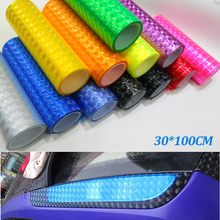 12 colors Cat Eye 30cm*100cm Auto Car Styling Headlights Stiker Auto Decals Adesivos Para Carros Car Taillight Film Stickers(China (Mainland))