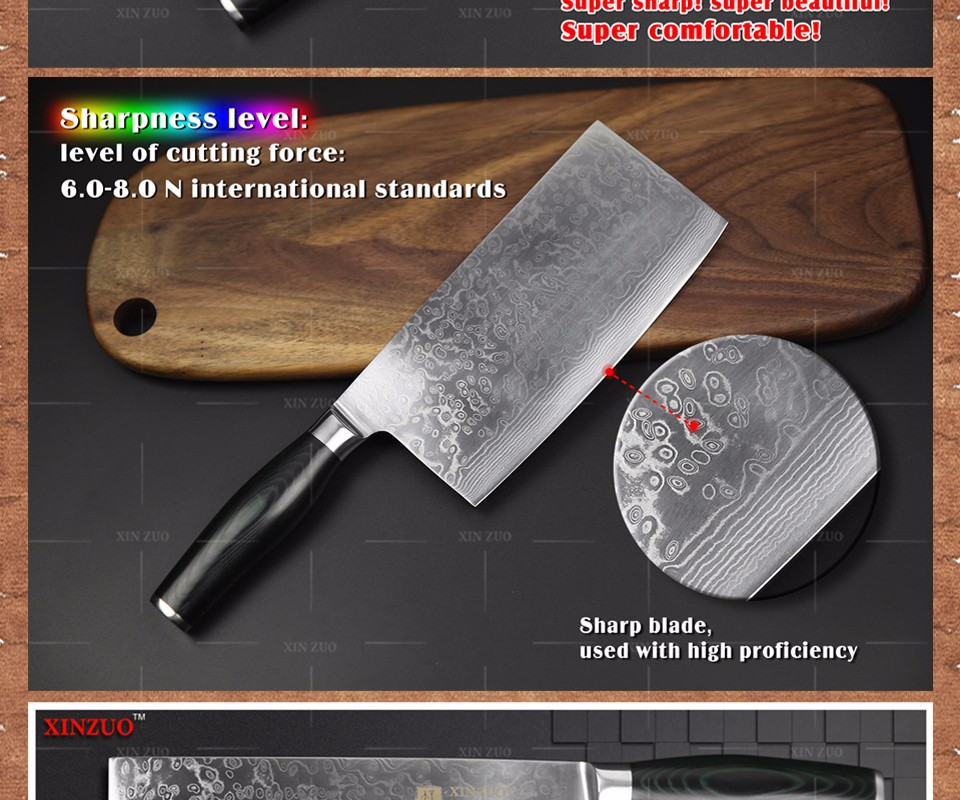 Buy XINZUO 7.5 inch kitchen knife 73 layer Japanese VG10 Damascus vg10 chef knife Japanese woman chef knife wood handle free shiping cheap