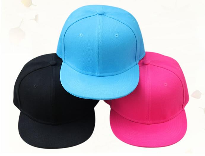 Black blue pink no logo cotton baseball cap kids child children boy girl flat brim hiphop snapback(China (Mainland))