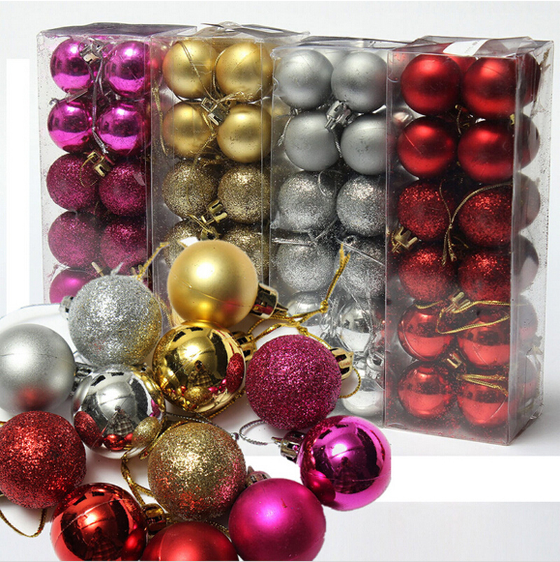 24pcs/ lot Christmas Tree Decor Ball Bauble Hanging Xmas Party Ornament decorations for Home New~GS622-GS626(China (Mainland))
