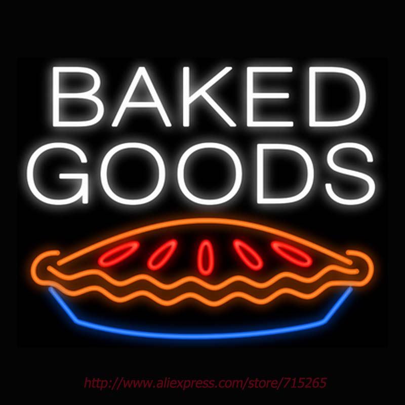 Baked Goods Pie Neon Sign Signage Board Neon Bulbs Real GlassTube Handcrafted Decorate Window Display Super Bright Attract 31x24(China (Mainland))