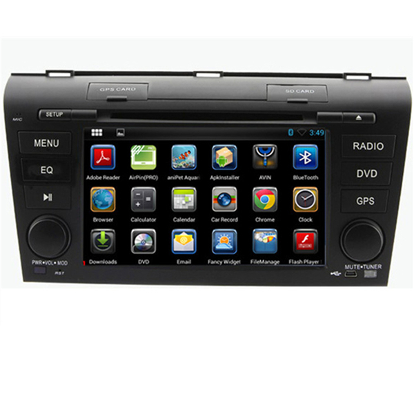 1024*600 Android 4.4 A Car PC DVD Player for Mazda 3 2007 2008 2009 GPS Navigation Wifi 3G Stereo Radio Video RDS 8GB Map(China (Mainland))