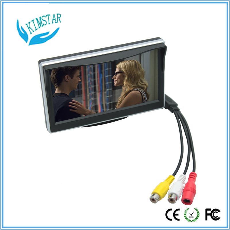 5 inch TFT Color LCD Screen Parking Sensor Video Monitor Car TV Rearview Backup for Reverse Camera 2 Video input 9~36V(China (Mainland))