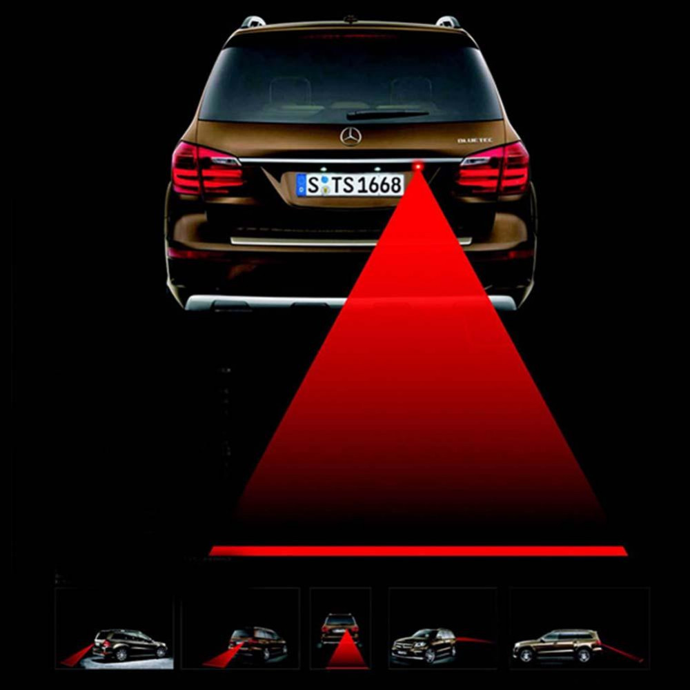 Drl Mercedes Car Styling New Anti-collision Car Alarm Rear-end Laser Fog Auto Brake Parking Tail Light Warning Lamp Universal <br><br>Aliexpress