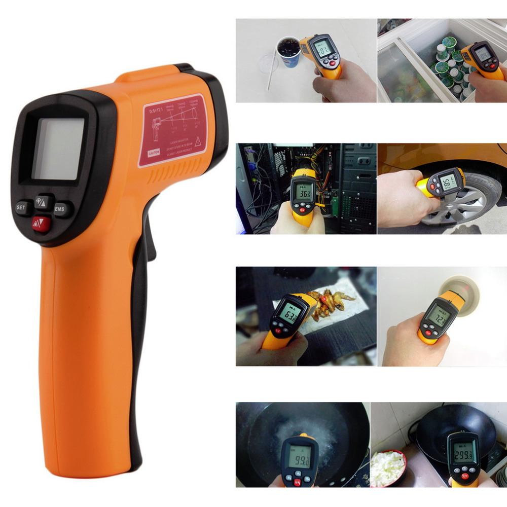 Digital Infrared Thermometer Non-contact LCD IR Laser Temperature Tester Gun Wholesale New Arrival<br><br>Aliexpress